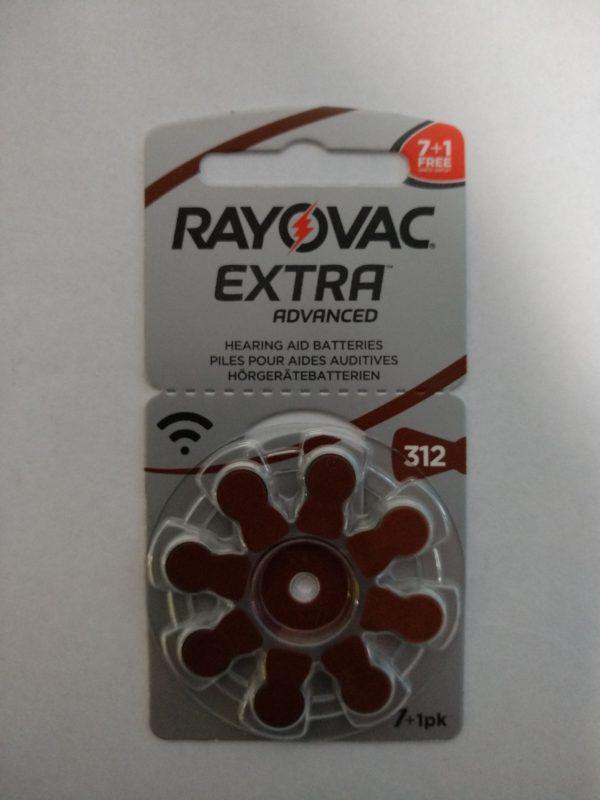 Батарейки rayovac 312